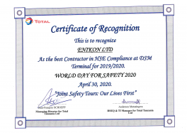 HSE TOTAL Certificate